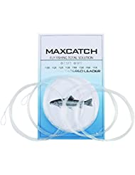 Maxcatch Pêche à la Mouche Bas de ligne conique avec Boucles 9ft 5 PCS (3X-6X)