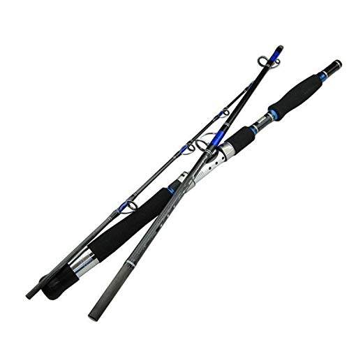 Margot-Charismatic-Shop Fishing Rods Angelrute Ködergewicht 70-250 g Meeresboot Jigging Angelrute 2,1 m 3 Abschnitte Kohlefaser Salzwasser Spinning Angelrute, 1.95 m