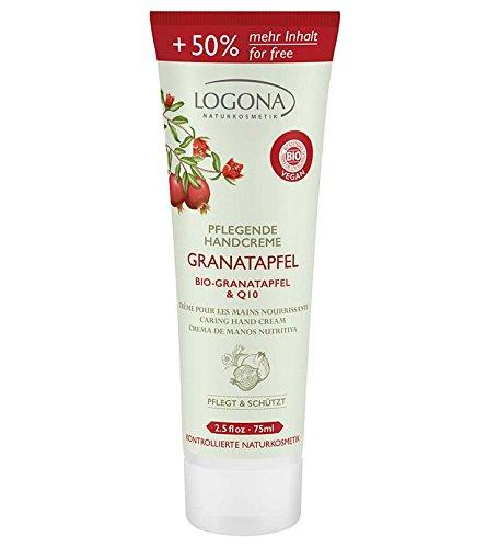 Logona Pflegende Handcreme Granatapfel Bio-Granatapfel & Q 10, LIMITED EDITION 50% mehr Inhalt, 75 ml (Granatapfel Limited-edition)