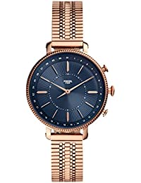 Fossil Hybrid Smartwatch Cameron Rose Gold-Tone Stainless Steel Woman FTW5061