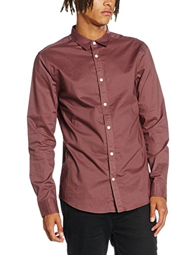 New Look Washed Poplin, Chemise Business Homme Pink (Mid Pink)