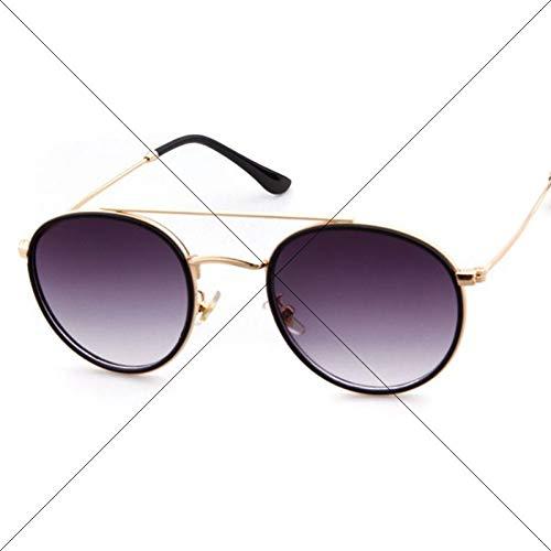 Taiyangcheng Mode runde Sonnenbrille Frauen Brille männer Spiegel Sonnenbrille Rose Gold Metall,a1