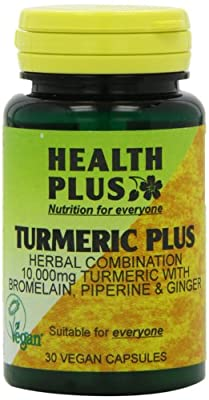 Health Plus Turmeric Plus Joint and Digestive Plant Supplement - 30 Capsules by Health + Plus Ltd