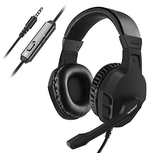 NUBWO Xbox One PS4 Gaming Headset PC Mikrofon Laptop Computer Stereo Kopfhörer mit Mikrofon für Playstation 4 Xbox 1 Game-Controller - Schwarz