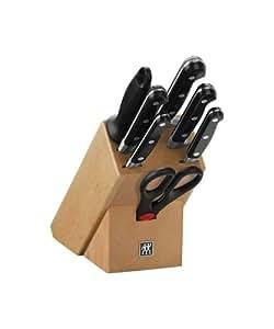 Zwilling 35662-000 Bloc Couteaux Bois Naturel 8 pièces Professional S