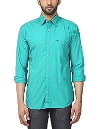 Park Avenue Men's Solid Slim Fit Casual Shirt