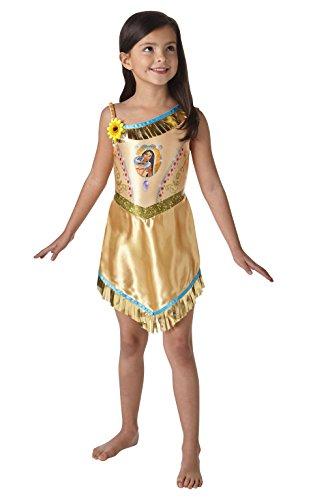Pocahontas Mädchen Fancy Kleid Disney Princess Fairytale Buch Kostüm für Kinder (Gute Disney-halloween-kostüme)