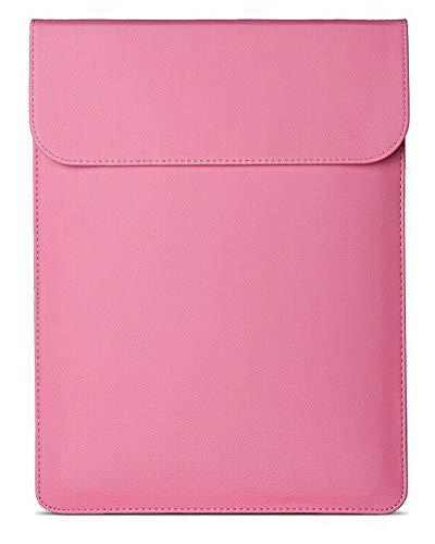 """GELing 13,3 Zoll Laptoptasche,PU Leder Laptop Hülle Tasche mit extra kleine Filztasche, Kompatibel mit 13 Zoll - 13.3 Zoll MacBook Pro/Retina/MacBook Air, iPad Pro 12.9,Pink 3,12\"""" (29.3X19.5 cm)"""