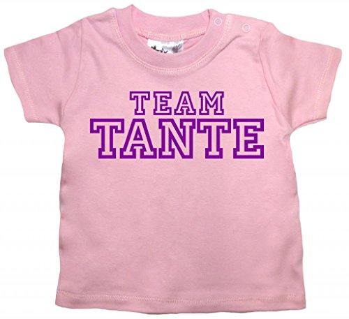 Dirty Fingers, Team Tante, Baby T-Shirt, 24-36m, Rosa