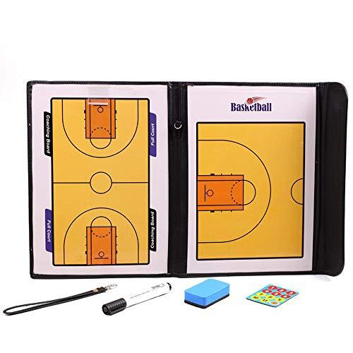 Faltbares Magnetisches Basketball-Taktik-Brett-Trainer-Brett-Befehls-Brett Wasserdicht Und Einfach Zu Tragen Coach Lieferungen Black