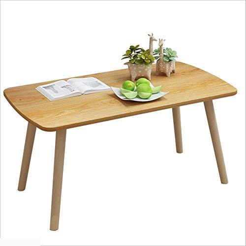 Xiaoyan tavolino da salotto moderno in legno massello per il tempo libero in legno massello (dimensioni : 80cm)