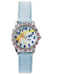 Barbie B682 - Reloj analógico para niña de plástico azul