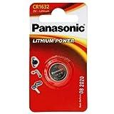 Lithium Power 3,0 Volt Typ 1632 CR1632 von Panasonic im Original 1er-Blister MHD mind. bis 2024