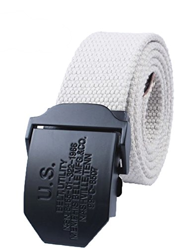 menschwear-mens-adjustable-cotton-canvas-belt-metal-buckle-military-style-45-120cm-white