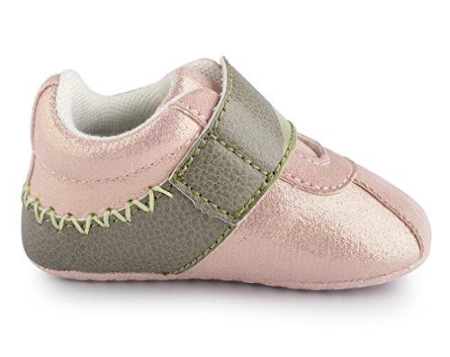 Pink Crianças Antiderrapantes Bebé Cartoonimals Sapatos Bebê Sapatos Menina Macios Recém Glitter nascido Croco RFqn7x