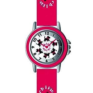 Chipie - 5210707 - Montre Fille - Quartz Analogique - Cadran - Bracelet Caoutchouc Rouge