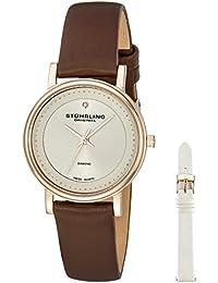 Stührling Original 734LS2.SET.02 - Reloj analógico para mujer, correa de cuero, color marrón