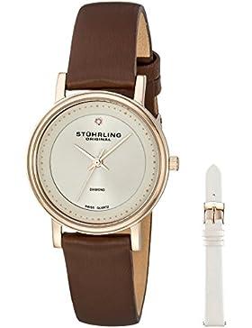 Stuhrling Original 734LS2.SET.02 Damen-Armbanduhr Analog Quarz Leder