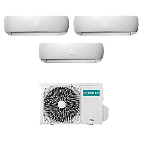 Condizionatore Climatizzatore Trial Split Inverter Hisense Mini Apple Pie 9000+9000+12000 9+9+12 Btu A++ AMW3-20U4SZD1