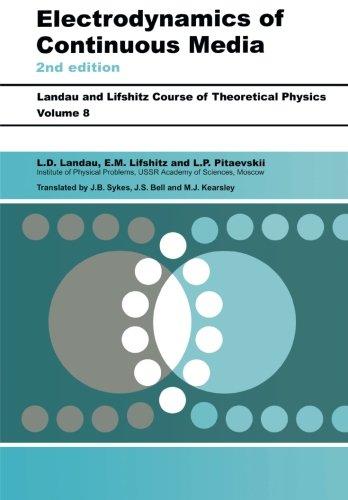 Electrodynamics of Continuous Media: Volume 8 (Course of Theoretical Physics) por E. M. Lifshitz