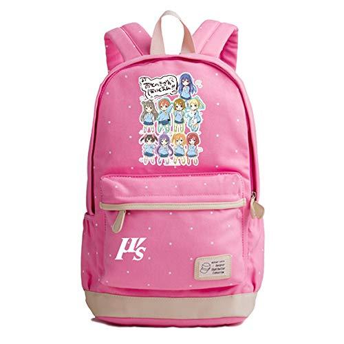 Love Live Anime Wave Point Casual Rucksack Schultasche Laptop Rucksack Daypack Satchel Knapsack College Bag Book Bag
