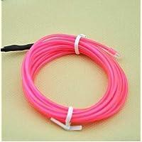 Amicc El Wire 5m 16ft الوردي النيون ضوء النيون متوهجة سلك كهربي للرجل المحترق اللباس تأثيري هالوين عيد الميلاد حزب الديكور