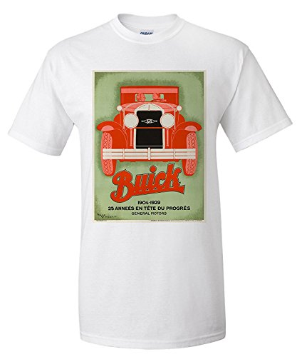 buick-red-on-green-vintage-poster-artist-vincent-france-c-1929-premium-t-shirt