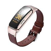 FRF Sports bracelet- Men And Women Multi-function Intelligent Sports Bracelet Can Talk Bluetooth Bracelet Headphones Combo (color : Brown)