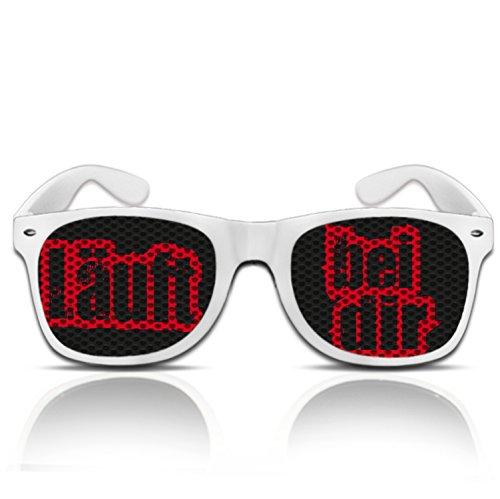 Läuft bei dir Party Atzen Sonnen Brille mit Spruch Läuft bei dir Jugendwort 2014 Partybrille...