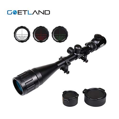 Goetland 6-24x50 AOEG Lunettes de Visée Télémètre Rouge & Vert Mil-Dot Chasse Tactique Éclairée avec Montures