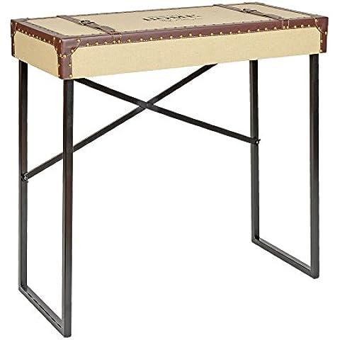 ts-ideen - Escritorio mesa depósito aparador para sala oficina computadora de trabajo consola estilo vintage cofre maleta natural