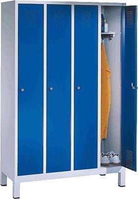 EVOLO Garderobenschrank48010-40-7035 H185xB119xT50 cm lichtgraublau