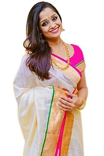 saree (Cotton Silk Saree With Blouse)