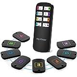 Key Finder, Chidi-T [2019 Now] Super 8 in 1 Pulsante wireless anti-perso Telecomando allarme, 1 trasmettitore Rf/Rfid e 8 ricevitori, il miglior regalo per gli anziani e smemorati