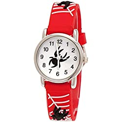 Pure Time Children's Clock, Santa/Red Spider Silicone Watch White With Watch Box