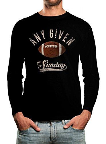 Any Given Sunday Longsleeve Shirt Herren Super Bowl Play Offs Football Play Offs American Sports Fanshirt Langarm T-Shirt, Farbe:schwarz (Black);Größe:XL (Langarm Super-bowl-shirts)