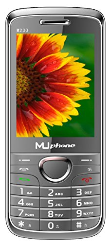 MUPHONE M230 Basic Feature Mobile Phone With DUAL SIM, 2.8 Inch Display, Speed Dialing, Auto Call Recording, FM Recording, 1700 MAh Battery, Expandable Memory,Big Speaker, BLUETOOTH, VIBRATION, CAMERA, BIS CERTIFIED & 1 YEAR (Grey)