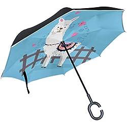 DULCE LLAMA. Paraguas invertido