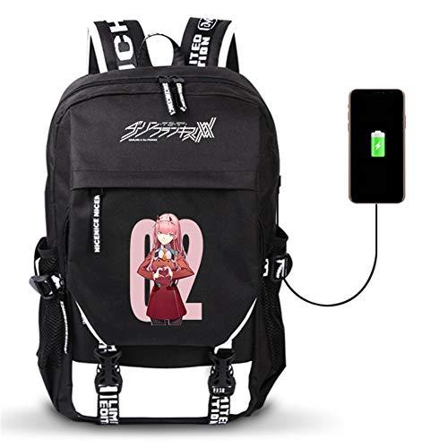 Unisex Outdoor Reiserucksack Anime Daypack Schulter Schultasche Laptop Rucksack mit USB-Ladeanschluss - 2125 Usb