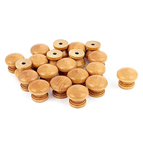 sourcingmap® Furniture Drawer Door Cabinet Closet Wood Round Knob Pull Handle 20pcs