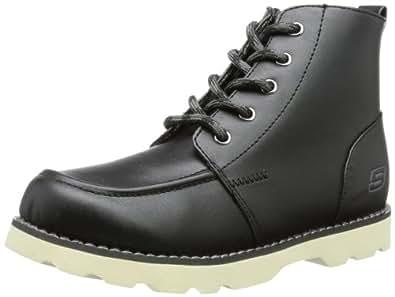 Skechers Bowland - Edger, Boots garçon - Noir (Blk), 38 EU