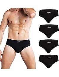 wirarpa Slip Microfibra Hombre Modal Ropa Interior Briefs Calzoncillo para Hombre Pack de 4