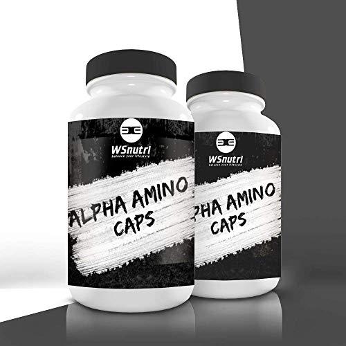 WSnutri Alpha Amino I BCAA Kapseln hochdosiert I essentielle Aminosäuren I wertvolle Vitamine und Mineralstoffe I Gesundheit, Sport und Training
