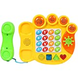 Planet Of Toys Boys And Girls Electric Learning Telephone Machine With Music & Light For Kids