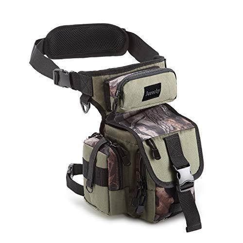 Jueachy Multifunktional Drop Leg Taille Tasche, Taktischer Militär Oberschenkel Hip Outdoor Pack für Motorrad Wandern Reisen Angeln Werkzeugtasche (Army Green Camouflage) (Reise Power-pack Die Für)