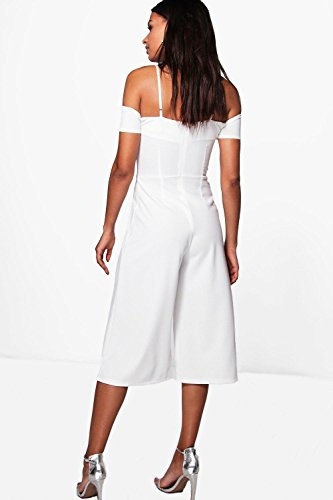 Noir Femmes Emma Off The Shoulder Culotte Jumpsuit Noir