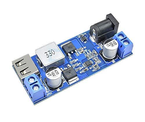 JZK 24V 12V a 5V 5A LM2596S modulo di alimentazione DC-DC step down, regolatore di tensione step down, convertitore di alimentazione, riduttore di tensione da 24v 12v 5a, convertitore di potenz