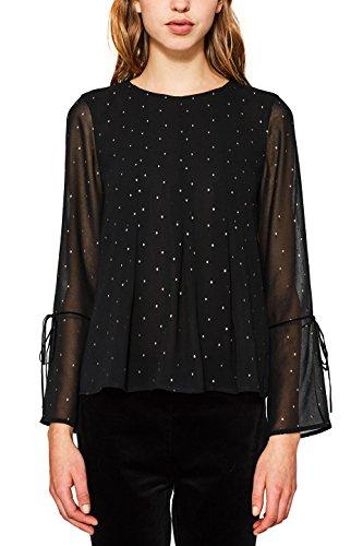 ESPRIT Collection Blouse Femme Noir (Black 001)