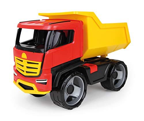 Lena 20188 - Starke Riesen GIGA Truck Muldenkipper Titan, Kipplaster ca. 51 cm, großes Baustellen Spielfahrzeug für Kinder ab 3 Jahre, stabiler Kipper LKW, markant und modern, mit Mulde zum Kippen