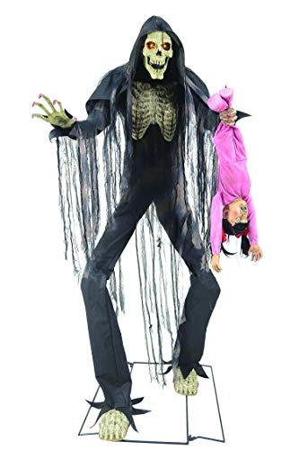 CTC Halloween Animatronic Giant Bogeyman mit Kind Schwarzer Mann 2 Meter Horror Figur